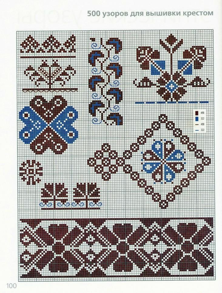 Узор и орнамент вышивка крестом 745